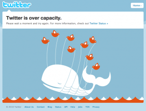 Twitter Down Due to Search Volume Screenshot