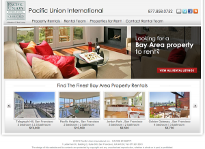 Pac Union Rentals Homepage